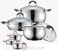 Набор посуды 6 предметов нержавейка Petergoff