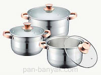 Набор посуды Petergoff  6 предметов нержавейка (15292 PH)