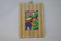 Доска кухонная Дошка бамбукова  дерево полоса 34х24 см бамбук (24*34д)