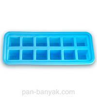 Форма для льда 12 штук 26х11 см h3 см силикон Kamille