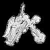Нательный серебряный крест с Ангелом Хранителем