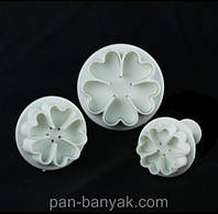 """Форма для печенья Empire  """"цветок"""" 3 штуки пластик (8615 EM)"""