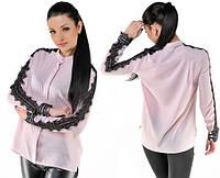 Блуза в расцветках. Вставки вуаль
