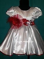 Детское платье для девочки белое на 2 - 4 года