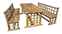 Садовый комплект мебели под старение (Сосна)