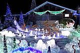 Монтаж новорічних світлодіодних гірлянд, святкові гірлянди, гірлянда завісу штора бахрома мережа сітка нитка, фото 3