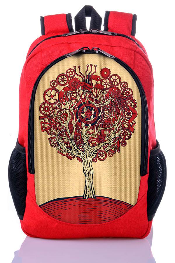 Рюкзак школьный, молодежный с принтом Дерево.