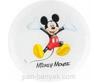 Тарелка десертная Luminarc Disney Mickey Colors круглая без борта d20 см ударопрочное стекло (L2125/9172G)