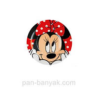 Тарелка десертная Luminarc Disney Oh Minnie круглая с бортом d19 см ударопрочное стекло (6438H)