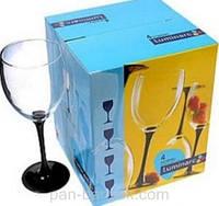 Набор бокалов для вина Luminarc Domino 4 штуки 190мл стекло (5156E)