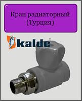 "Кран Kalde 20х3/4"" радиаторный прямой"