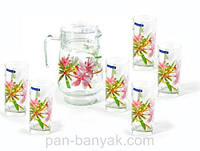 Freesia Набор для воды (кувшин 1,6л+ стакани 270мл-6шт) 7 предметов стекло Luminarc