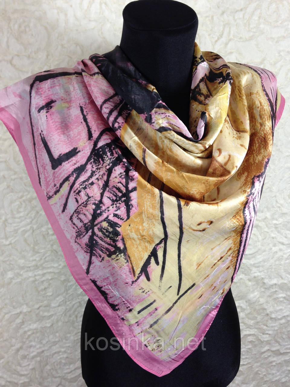 Женский платок по картине художника Ван Гога 85х85 см (цв.1)