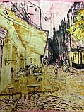 Женский платок по картине художника Ван Гога 85х85 см (цв.1), фото 2