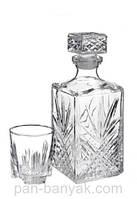 Набор для виски BormioliRocco Selecta (графин 1000мл+ стакани 280мл-6шт) 7 предметов стекло (226041 BR)