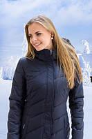 Женское полу-пальто FREEVER (холлофайбер) 6410 т. синие