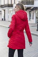 Женское полу-пальто FREEVER (холлофайбер) 6410 красное