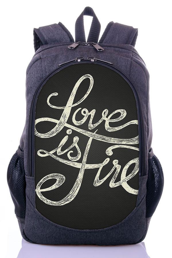 Рюкзак женский, школьный с принтом Love.