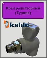 "Кран Kalde 20х3/4"" радиаторный угловой"