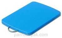 Доска кухонная голубая 33х25 см h1,2 см пластик Durplastics
