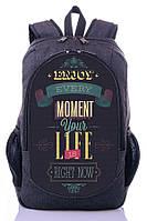 Рюкзак школьный, городской с принтом Moment your life.