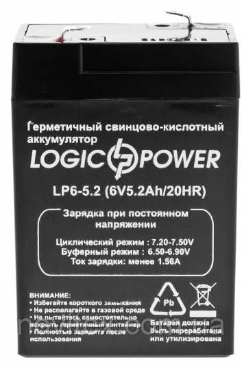 Аккумулятор Logicpower 6V 5.2Ah