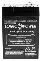 Аккумулятор Logicpower 6V 5.2Ah, фото 1