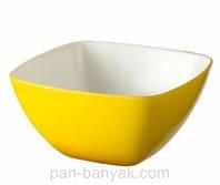 Siesta Салатник желтая d14 см h14 см акрил Granchio