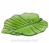 Tropical Leaf Тарелка зеленая 28х25 см акрил Granchio