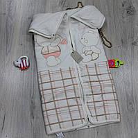 Детский конверт для новорожденного одеяло-трансформер, материал велюр синтипон, сезон осень-весна
