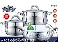 Набор посуды Petergoff  6 предметов нержавейка (15769 PH)