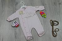 Детский комбинезон человечек на девочку, материал интерлок, 2м,3м,6м тм FLEXI  Турция