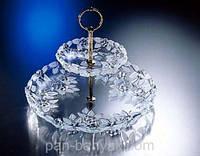 Carmen Satin Этажерка d34 см стекло WG