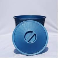 Бак хозяйственный Al-Plastic  с крышкой 35л d40 см h38 см полипропилен (70)