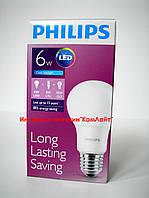 Светодиодная лампа PHILIPS LEDBulb 6-50W E27 6500K 230V A60