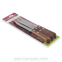 Нож для стейка с деревяной ручкой 6 штук длина 11,5 см нержавейка Kamille