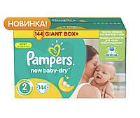 Подгузники детcкие Pampers New Baby-Dry Mini 2 (3-6 кг) Мега упаковка 144 шт.