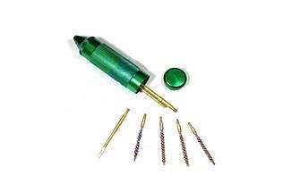 """Наборы для чистки пневматического оружия. Набор для чистки Flobert 4 мм """"Compact"""" (алюминиевая колба). Флобер, фото 2"""