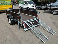 Прицеп для перевозки квадроцикла + бортовой. 2,5мх1,4мх0,3м, фото 1
