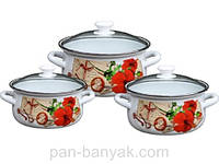 Набір посуду Керч Сферичні 6 предметів емаль (Вінтаж-Екстра)