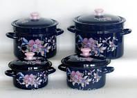 Набор посуды Керчь Конические 8 предметов емаль (Алиса-бостон-1)