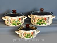 Набор посуды Керчь Сферические 6 предметов емаль (Римские каникулы-Экстра)