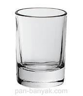 Гладкий Стопка 50мл d4,5 см h6,8 см стекло Гусь Хрустальний