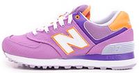 Женские кроссовки New Balance 574 (нью баланс) фиолетовые