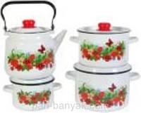 Лето Набор посуды №142 8 предметов емаль Северсталь-Эмаль