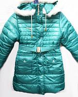 Детская куртка на зиму на утеплителе овчина  Гламур 1520