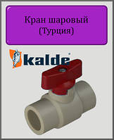 Кран Kalde 25 шаровый мини (красный)
