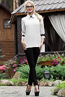 Блуза женская деловая кружево