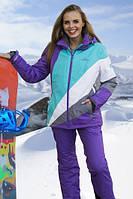 Куртка Freever женская фиолетовая с бирюзой 6317