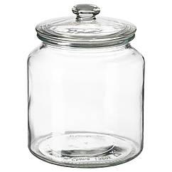 VARDAGEN Банка с крышкой, стекло, прозрачный 002.919.28